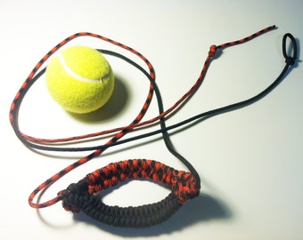 HANDMADE SHEPHERD SLING - Paracord Tennis Ball Thrower by David the Shepherd - David and Goliath Slingshot
