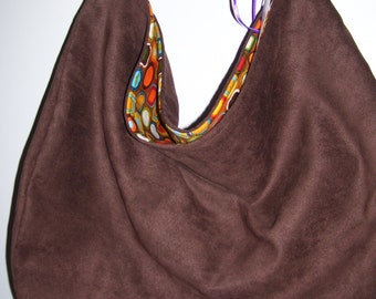 SALE --- Chocolate brown hobo bag