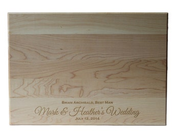 Bridesmaid Gifts Groomsmen Gifts Wedding Party Gifts Personalized Cutting Board 10x14 Maple Custom Laser Engraved
