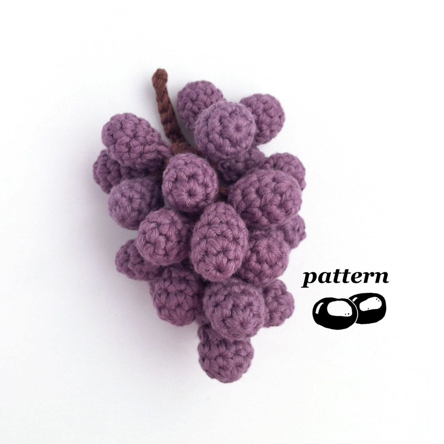 Amigurumi Grapes Pattern : Crochet Grapes Pattern / Bunch of Grapes / Crochet Fruit