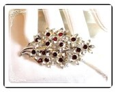 Red Coro Flower Bouquet - Sparkling Vintage  Pin-1053a-012312000