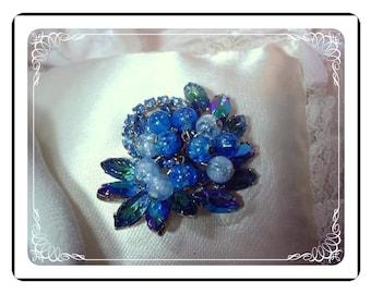 Juliana Brooch Bodacious Blue Baubles    Pin-530a-010107045