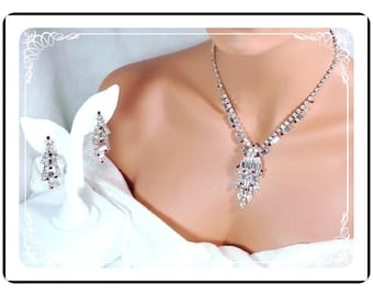 Juliana Necklace Demi - Verified Winter Ice Rhinestones with Red Accents D&E 945a-102010065