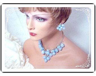 Juliana Blue Set - Vintage Juliana  Demi Spectacular Blue Dancing Globes  Demi-971a-031211085