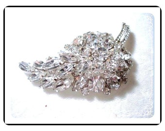 Juliana Clear Ice Brooch  - Large Bewitching D & E Pin-562a-021410035
