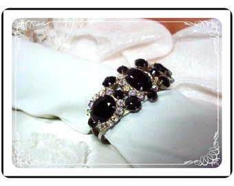 Juliana Black Clamper - Chic D&E - Vintage   Brac-657a-070508065