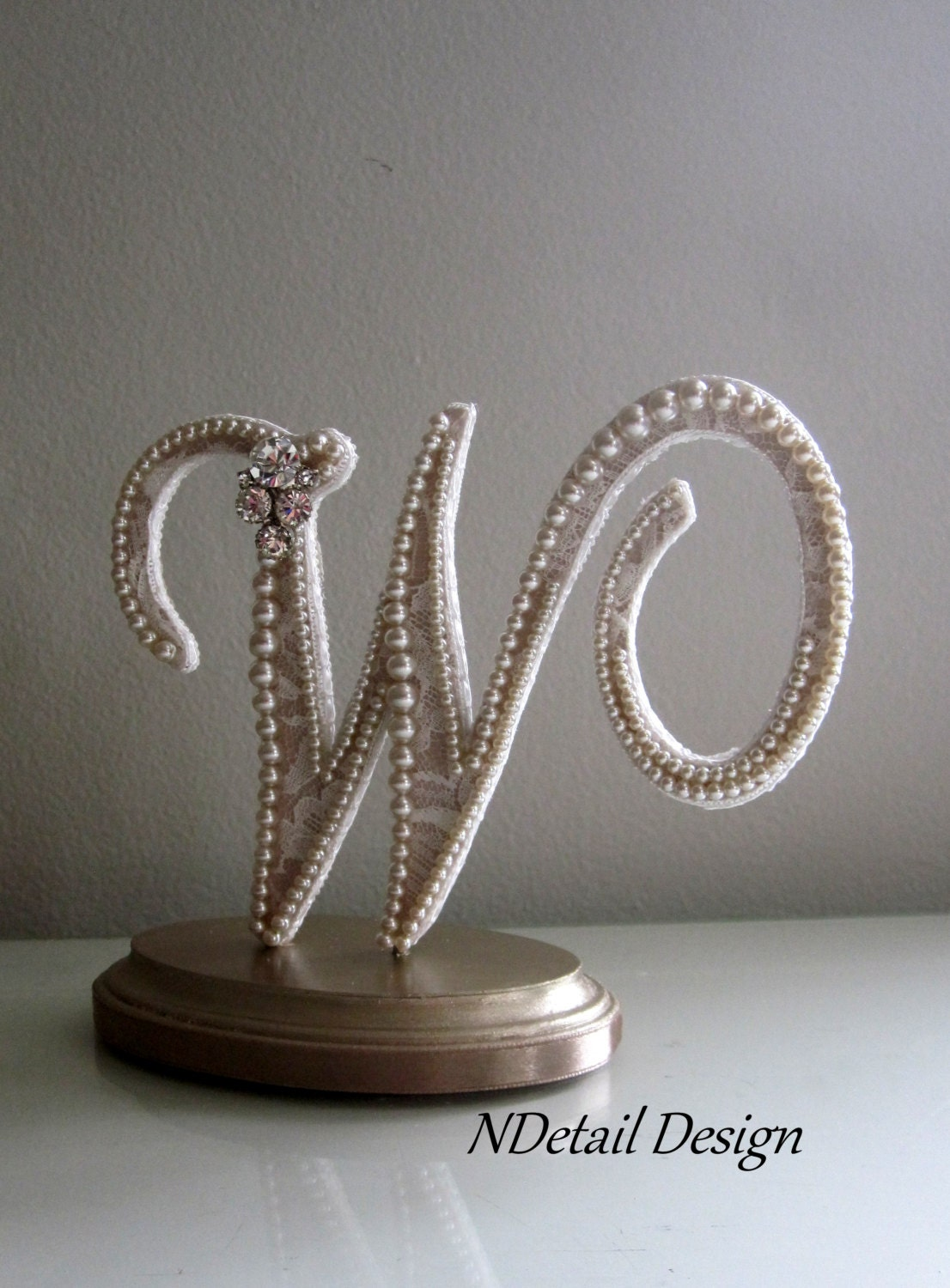 Rustic Wedding Cake Topper Custom Monogram by NDetailDesign
