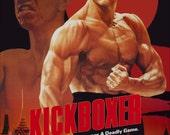 KICKBOXER Starring Jean Claude Van Damme Stand-Up Display