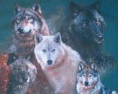 Vintage Wolf T-shirt / T-shirt With Wolves