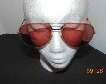 Vintage Girard Aviator Sunglasses #3540 Rare find Brown lenses