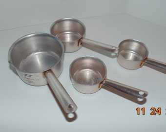 Retro Copper Tone Aluminum Measuring cups Cooking Baking