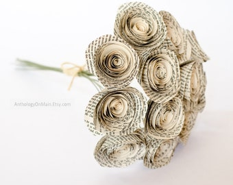 Special Order Roses Made from ANY Book - Customized Anniversary Gift - Personalized Bridesmaid Bouquets - Birthday Gift - Nursery Decor