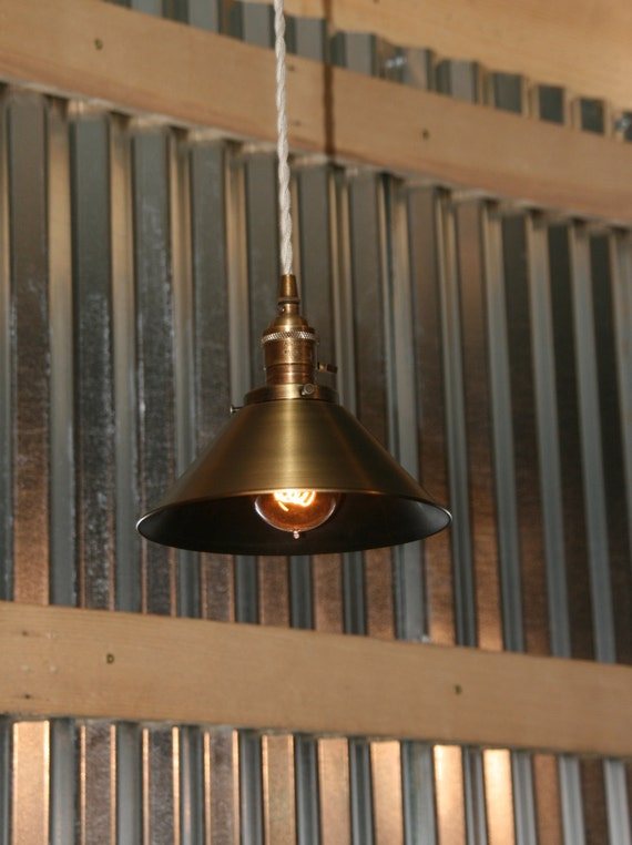 items similar to brass pendant light