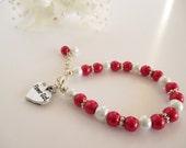 Flower Girl Bracelet, Pearl Flower Girl Bracelet Gift, Children's Jewelry, Kid's Pearl Bracelet, Flower Girl Keepsake, Flower Girl Jewelry