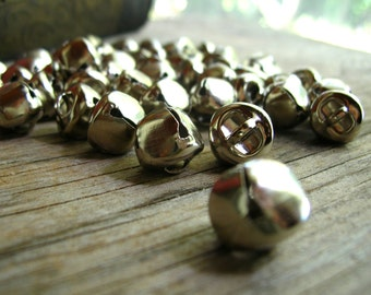 Silver Tone Bells - Jingle Bells - Christmas Bell Lot - Silver Jingle Bells - Cloches