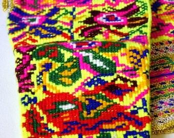 Vintage Handwoven Socks, Embroidered Socks, Floral Pattern Socks, Folk Socks
