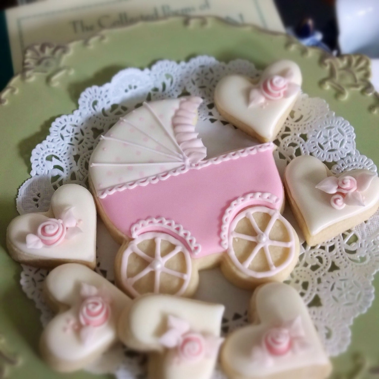 12 Baby Carriage Cookie Favors Baby Shower Cookies Wel e Baby