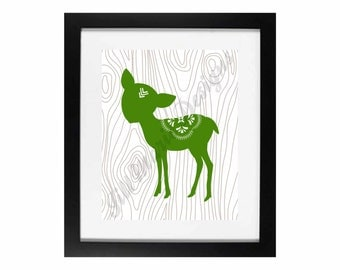Baby Deer | Home or Nursery Decor Digital Printable: CUSTOM COLOR AVAILABLE