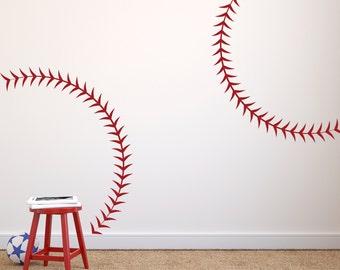 Large Life Size Baseball Seams Stitching Stitch Vinyl Wall Art - Vinyl vinyl wall decals baseball