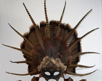 Truly Unique, Stunning Native American Inspired Masquerade Mask