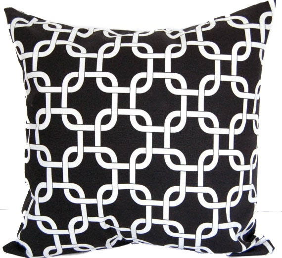 Items similar to Decorative pillow cover black and white geometric pillow sham cushion cover ...