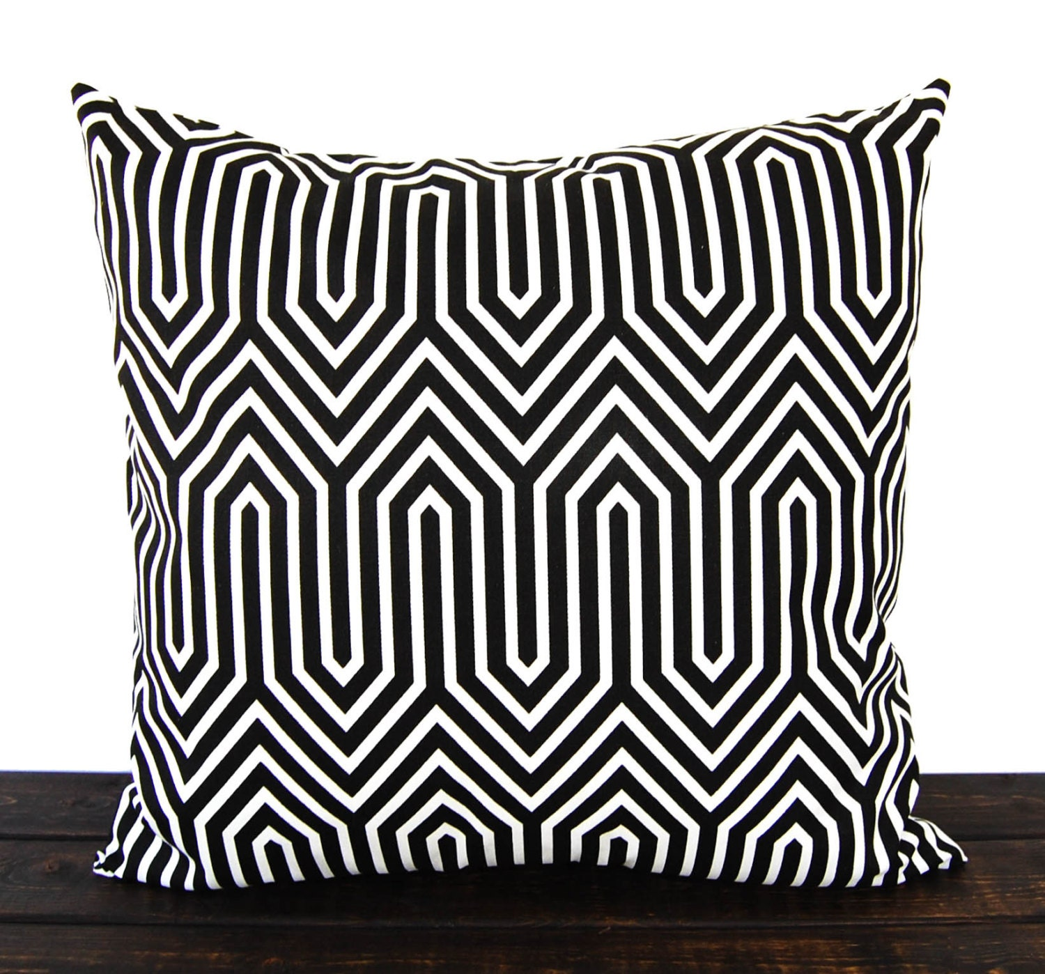 Throw pillow cover black white geometric cushion cover pillow