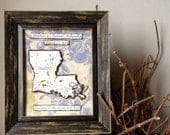 Anniversary Gift for Men - Custom State Map and Heart Gift - Personalized Frames - Love Quote Decor