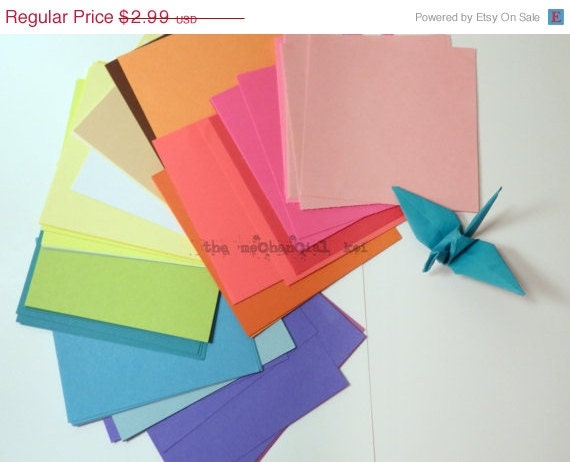 Origami paper sale sale 50 sheets origami paper 4x4 squares 25 colors by legoods - Imitation origami owl ...