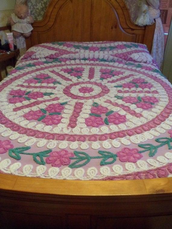 Multi-Colored Chenille Bedspread - 112.6KB