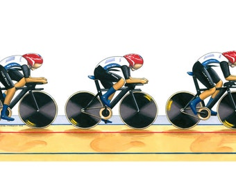 Team GB Women's Cycling Pursuit Team 2012 Greeting Card, DL size