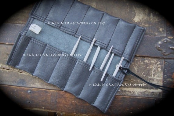 Leather Tool Roll Small Item Leather Tool Roll For