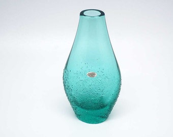 Blown and moulded Bohemian glass vase by Zelezny Brod (ZBS)
