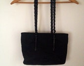 RESERVED Vintage Authentic Nylon Black Prada Bag with Leather and Plastic Chain Straps