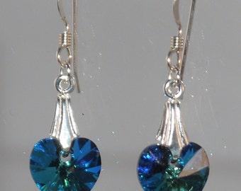 Bermuda Heart Swarovski Earrings