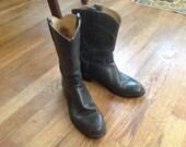 Vintage J Chisolm Cowboy Boots, Women's size 7
