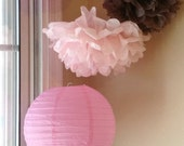 Sweetness/ Tissue Poms & Paper Lanterns //Baby Shower/Nursery Decor/Birthday/Bridal Shower/Wedding Shower