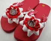 St. Louis Cardinals Flip Flops- Ladies M (7 to 8.5)
