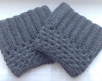 Ladies Steel Gray Wool Boot Cuffs