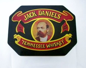Jack Daniels Tin, Tennessee Whiskey, Collectible Tin, Whiskey Tin, Jack Daniels