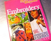 Vintage EMBROIDERY PATTERN  BOOK Golden Hands 1972