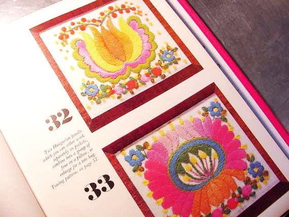 Vintage embroidery pattern book golden hands from