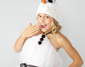 Crocheted Olaf the Snowman from Frozen hat - Choose your size