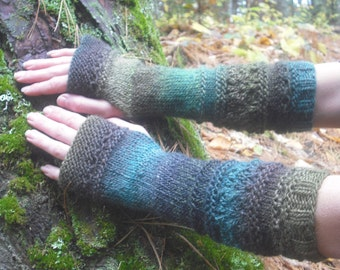 Fingerless Gloves, Wool Arm Warmers, Knit Arm Warmers, Hand Knit Gloves, Long Arm Warmers, Knit Wrist Warmers, Knitted Gloves, Colorful