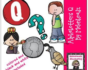 Alphabetters clip art Letter Q