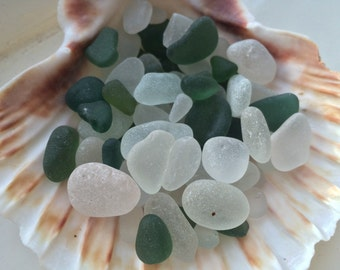 White and green sea glass mix: A good batch of smooth bubbles from Seaham