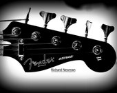 Musical instrument, guitar  black and white, 11 x 14 photograph