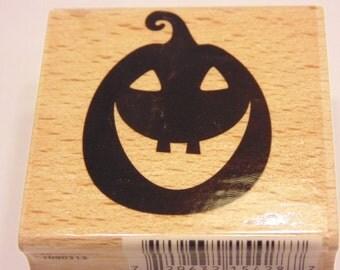 Large Jack O Lantern Halloween rubber stamp , 45 x 35 mm (HR1)