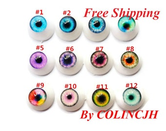 2pairs 20mm Handmade Glass Safety Eyes BJD Eyes For Doll