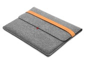"""15''Macbook Case Wool Felt Tablet Sleeve Laptop Case with Italian Thick Leather Strap for Macbook 15"""" Retina Laptop Sleeve Macbook Cover"""
