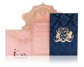 Die Cut  custom Luxury invitations - Custom Diecut Invitations - Custom LaserCut Invitations- Custom Luxury Invitations